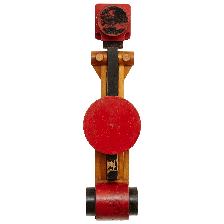 Vicenç Orsolà Wall Sculpture Free Composition AEM-68 Red Black Wood
