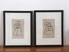 2 Serigraphs, Vicente Rojo