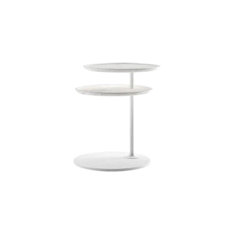 Molteni&C Vicino Coffee Table Foster+Partners Design White Marble For Sale