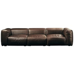 Vicious 3-Seat Modular Sofa in Brown Aniline Leather