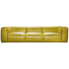 Vicious 3-Seat Modular Sofa in Yellow Aniline Leather