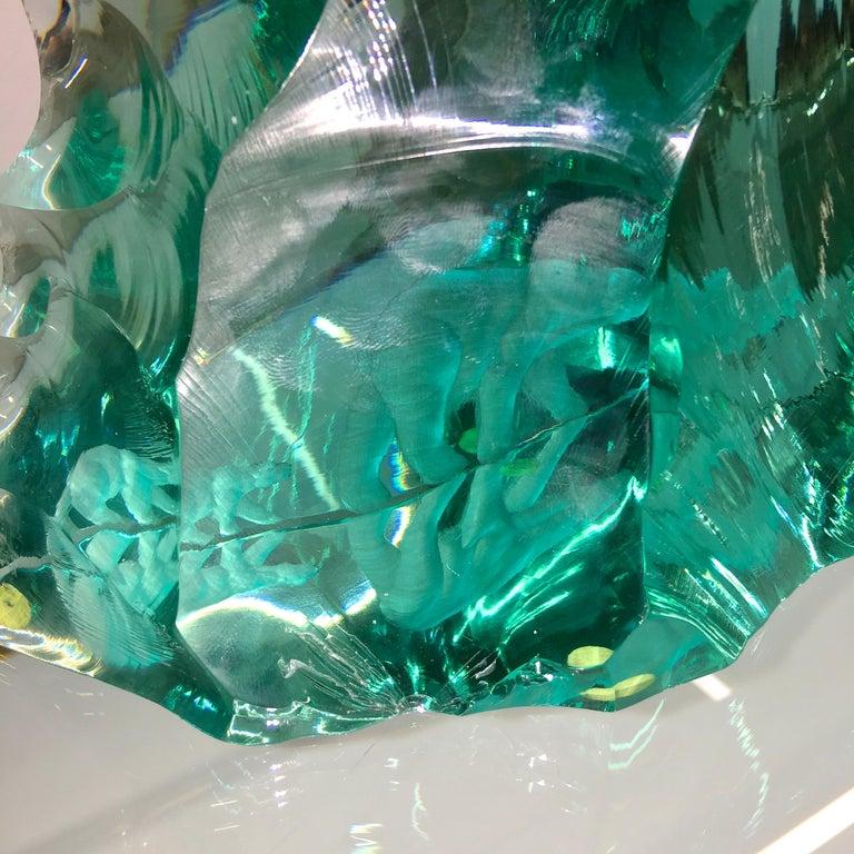 Vicke Lindstrand for Kosta Boda Art Glass Sculpture with Polar Bears For Sale 5