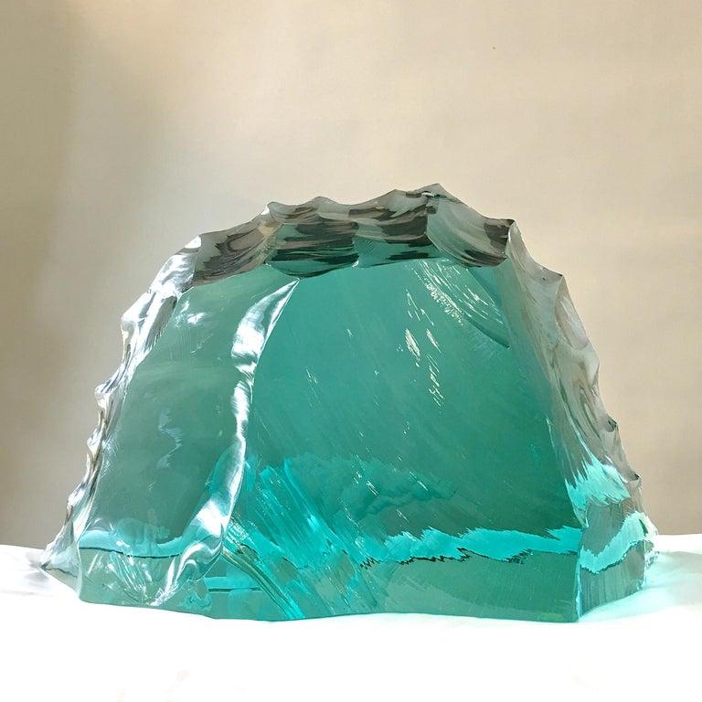 Vicke Lindstrand for Kosta Boda Art Glass Sculpture with Polar Bears For Sale 6