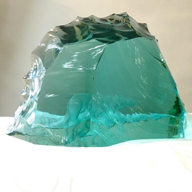 Vicke Lindstrand for Kosta Boda Art Glass Sculpture with Polar Bears For Sale 7