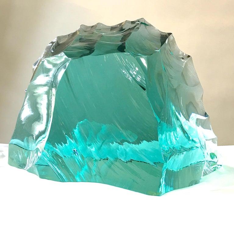 Vicke Lindstrand for Kosta Boda Art Glass Sculpture with Polar Bears For Sale 8
