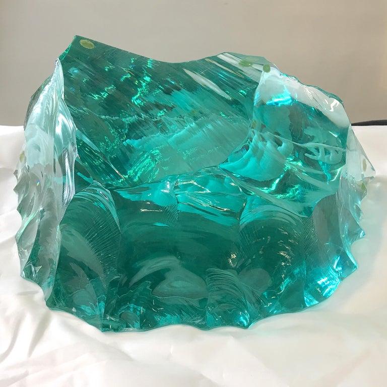 Vicke Lindstrand for Kosta Boda Art Glass Sculpture with Polar Bears For Sale 11