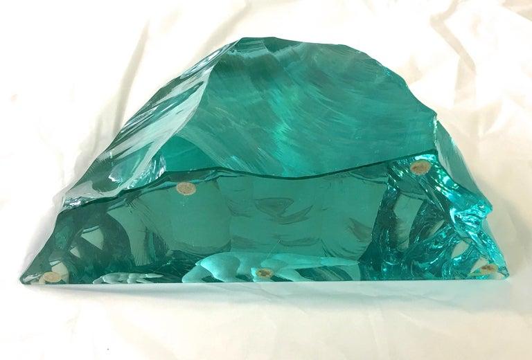 Vicke Lindstrand for Kosta Boda Art Glass Sculpture with Polar Bears For Sale 12