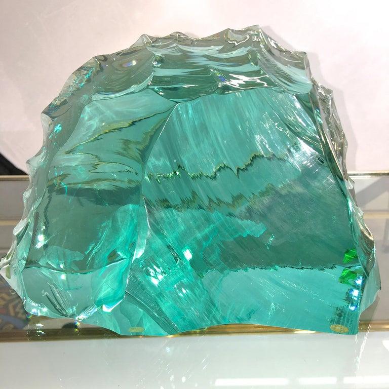 Mid-Century Modern Vicke Lindstrand for Kosta Boda Art Glass Sculpture with Polar Bears For Sale