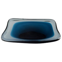 Vicke Lindstrand for Kosta Boda, Bowl in Blue Art Glass, 1958