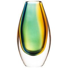 Vicke Lindstrand Vase Produced by Kosta in Sweden