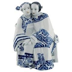 Vicken von Post-Börjesson for Rörstrand, Porcelain Figurine, Asian Couple