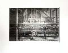 """Nottingham Loom"", Vicki McKenna, black, white, photograph, platinum, palladium"