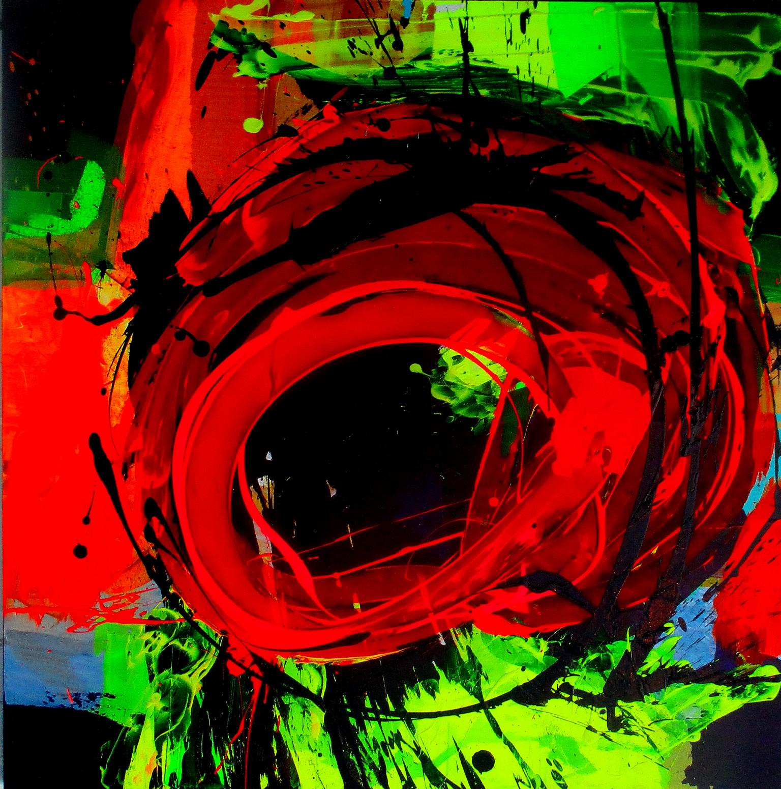 """Abstract Acrylic Painting on Canvas Titled """"Vortex"""""""