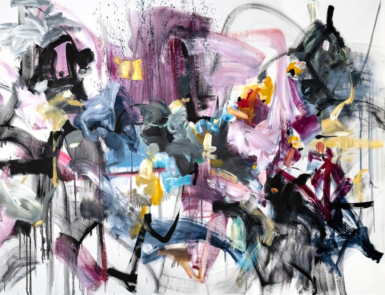 Vicky Barranguet Abstract Painting - Love by the Yard 1 (Option1)