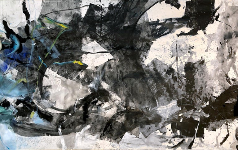 """Vicky Barranguet Abstract Painting - Love Series """"Black"""""""