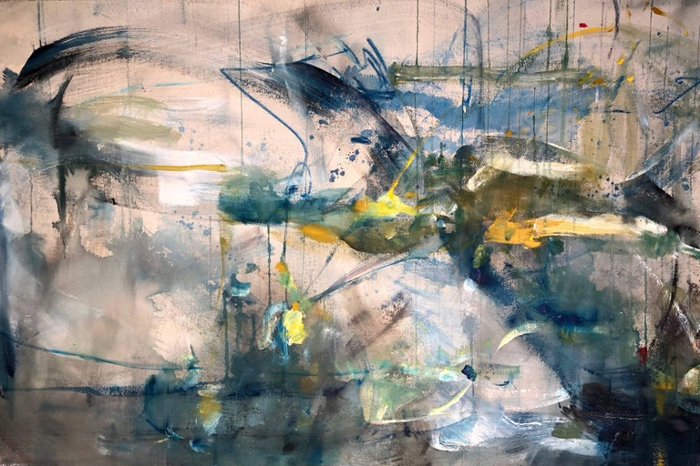 Vicky Barranguet Abstract Painting - Nothing Grows in a Straight Line