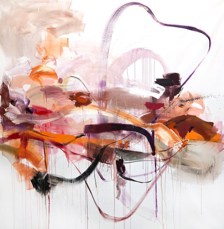 Vicky Barranguet Abstract Painting - Roads not Taken