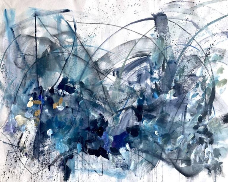 Vicky Barranguet Abstract Painting - Stella by stralight