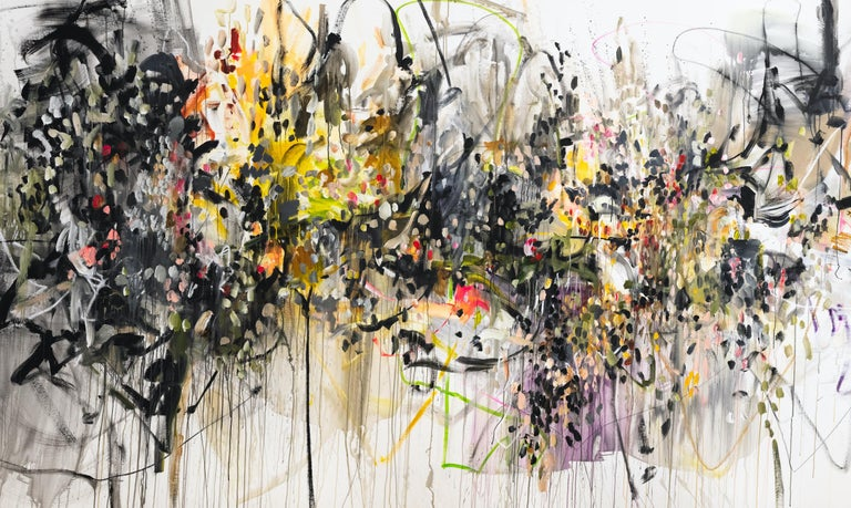 Vicky Barranguet Abstract Painting - Yards of Love IV B ( Serendipity Dots)