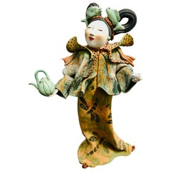 "Vicky Chock ""Chinese Lady Tea Server"" Modern Ceramic Sculpture"