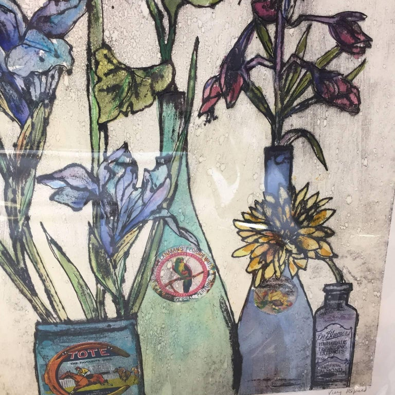 Summer Flowers, still life, floral art, limited edition print, Vicky Oldfield For Sale 1