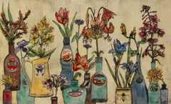 Summer Flowers, still life, floral art, limited edition print, Vicky Oldfield