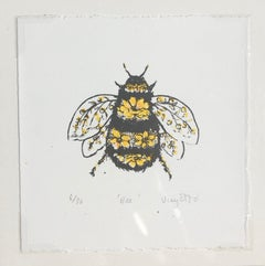 Vicky Oldfield, Bee, Animal Print, Contemporary Impressionist Nature Print