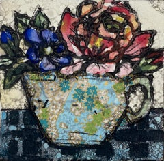 Vicky Oldfield, China Rose, Limited Edition Still Life Print, Affordable Art
