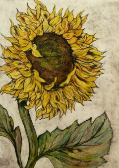 Vicky Oldfield, Summer Breeze, Affordable Art, Floral Art, Sunflower Print
