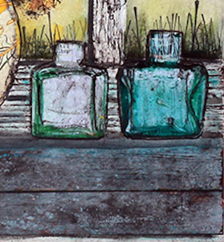 Vicky Oldifeld, Golden Days, Limited Edition Collograph Print, Still Life Art For Sale 2