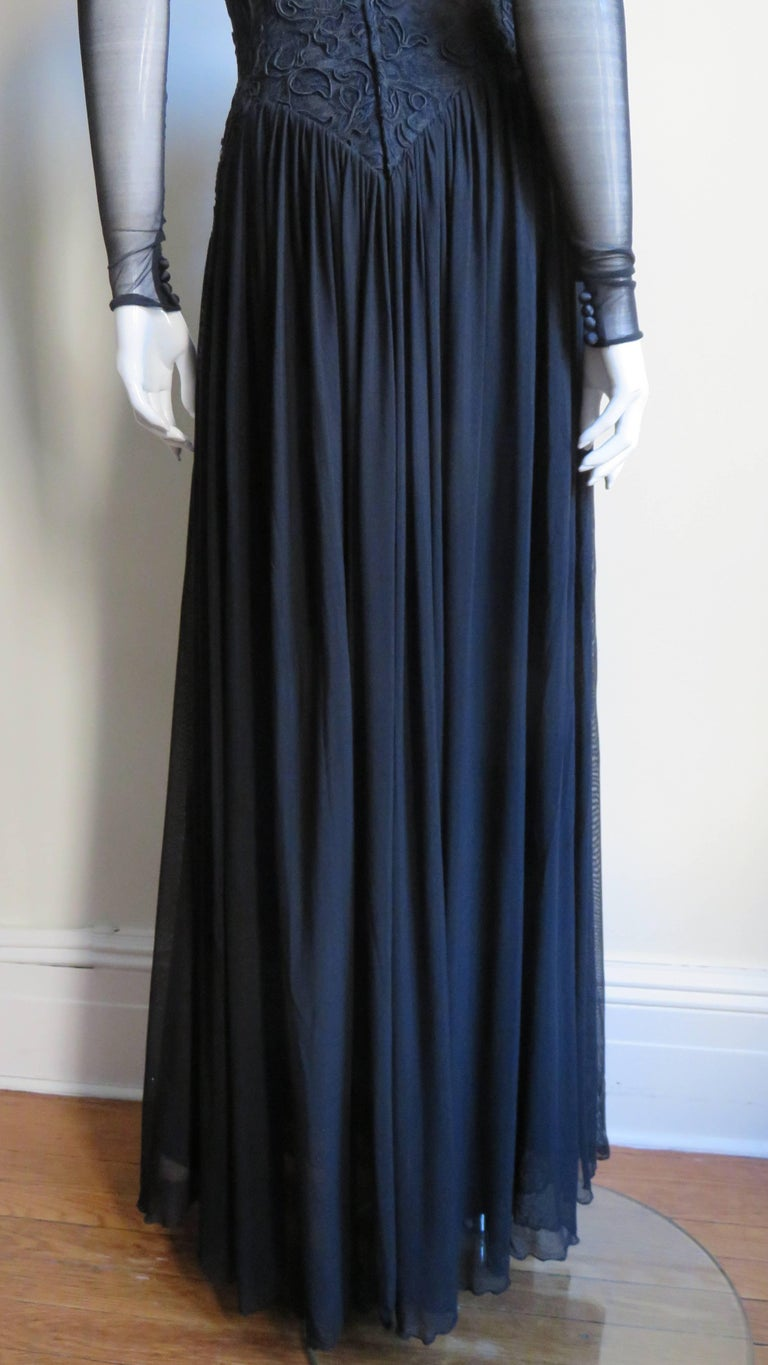 Vicky Tiel Couture Corset Dress Gown  For Sale 5