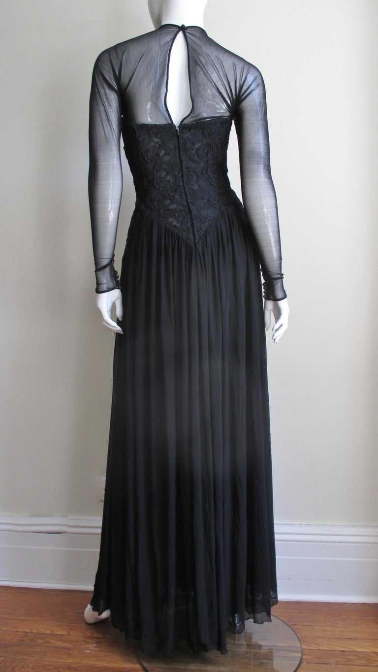 Vicky Tiel Couture Corset Dress Gown  For Sale 6