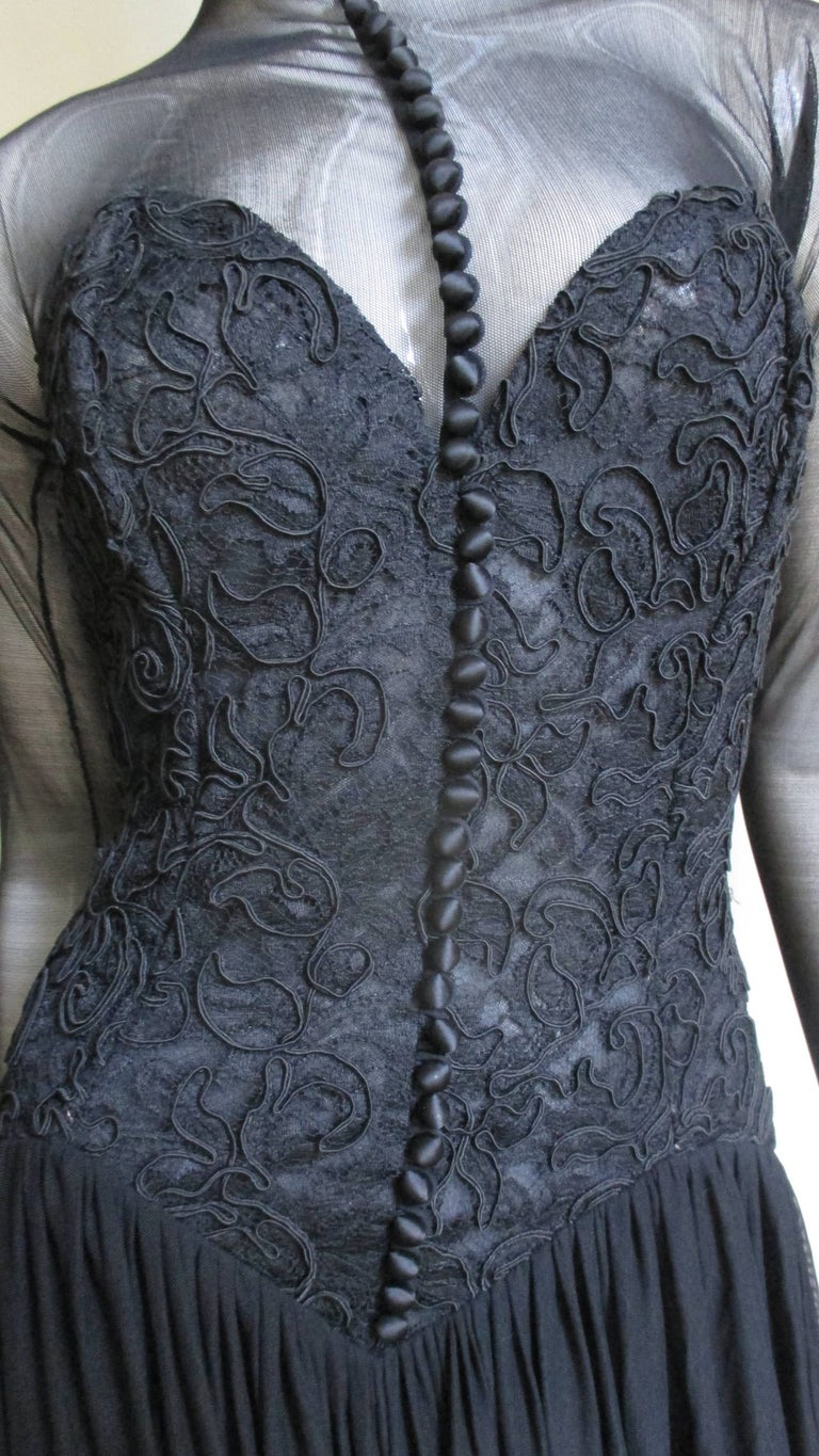 Vicky Tiel Couture Corset Dress Gown  For Sale 1
