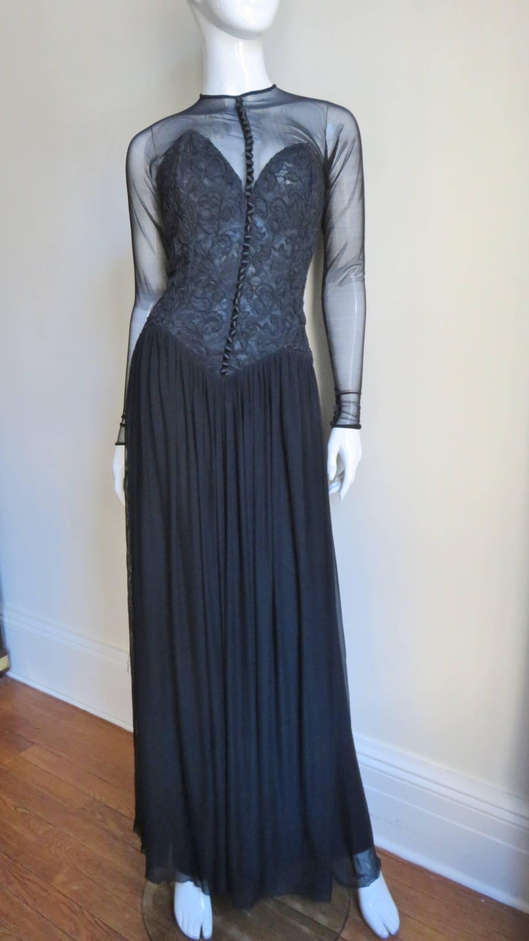 Vicky Tiel Couture Corset Dress Gown  For Sale 2