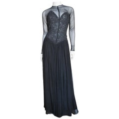 Vicky Tiel Couture Corset Dress Gown