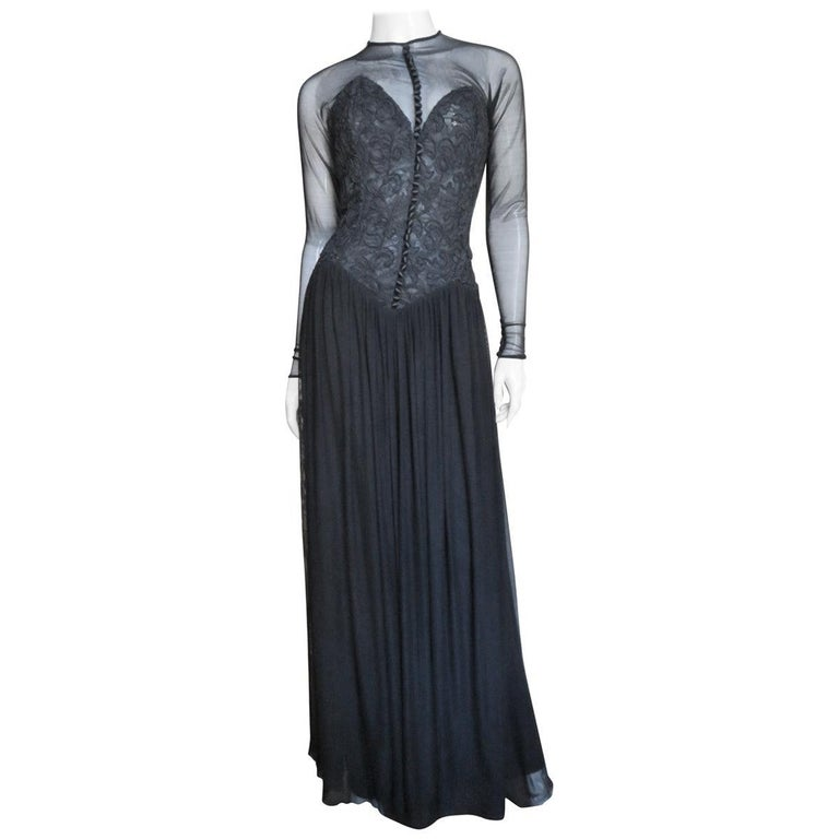 Vicky Tiel Couture Corset Dress Gown  For Sale
