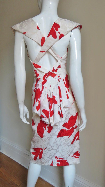 Vicky Tiel Silk Dress For Sale 5