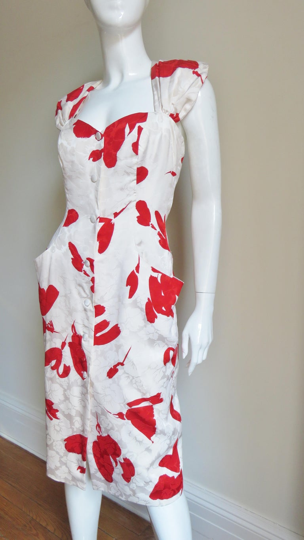 Vicky Tiel Silk Dress For Sale 2