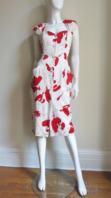 Vicky Tiel Silk Dress For Sale 4