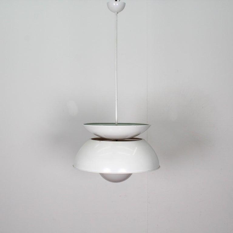 Vico Magistretti Artemide 1960 Modern Design Metal Cetra Hanging Lamp For Sale 3