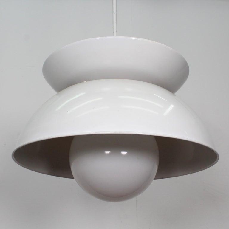 Vico Magistretti Artemide 1960 Modern Design Metal Cetra Hanging Lamp For Sale 5