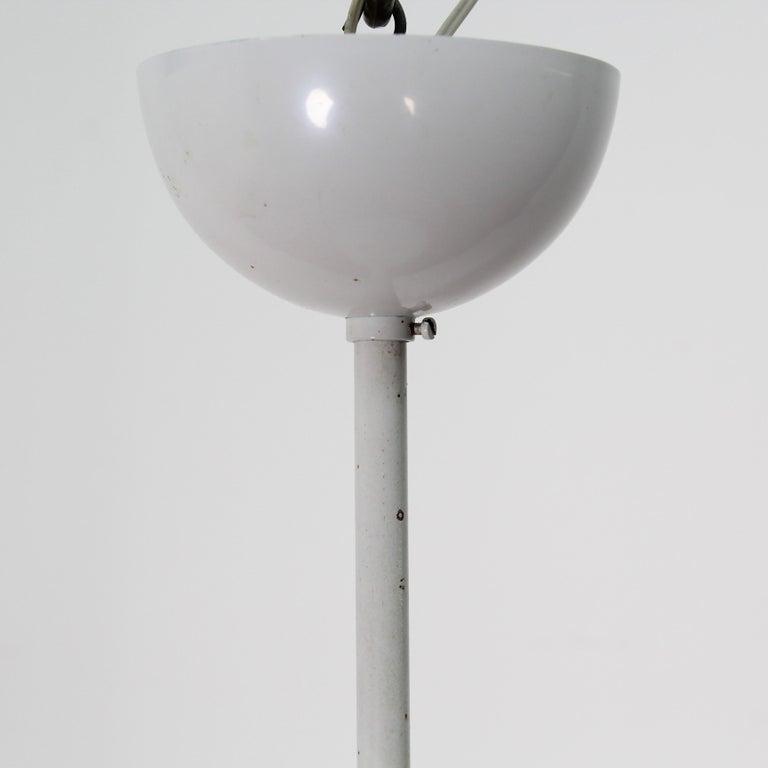 Vico Magistretti Artemide 1960 Modern Design Metal Cetra Hanging Lamp For Sale 9