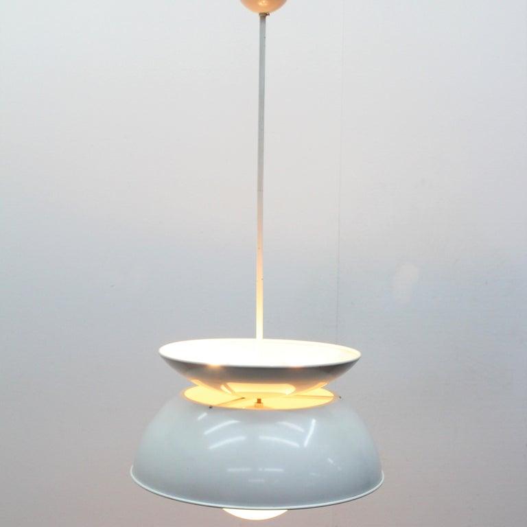 Mid-Century Modern Vico Magistretti Artemide 1960 Modern Design Metal Cetra Hanging Lamp For Sale