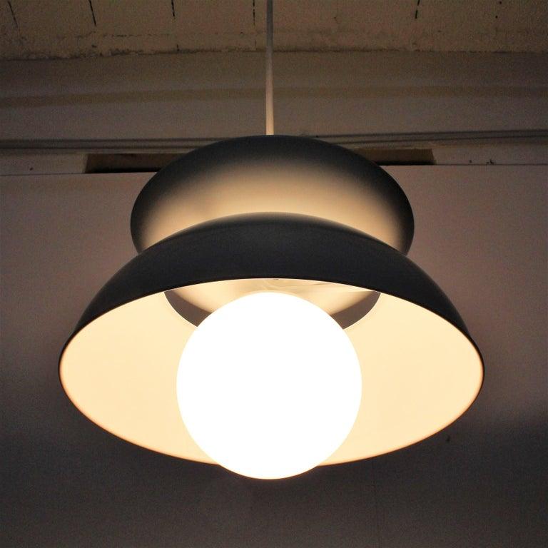 Vico Magistretti Artemide 1960 Modern Design Metal Cetra Hanging Lamp For Sale 1