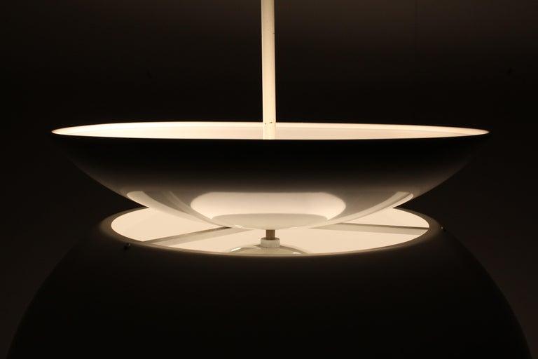 Vico Magistretti Artemide 1960 Modern Design Metal Cetra Hanging Lamp For Sale 2