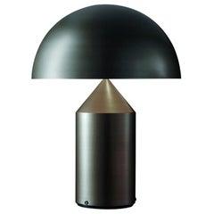 Vico Magistretti 'Atollo' Large Metal Satin Bronze Table Lamp by Oluce