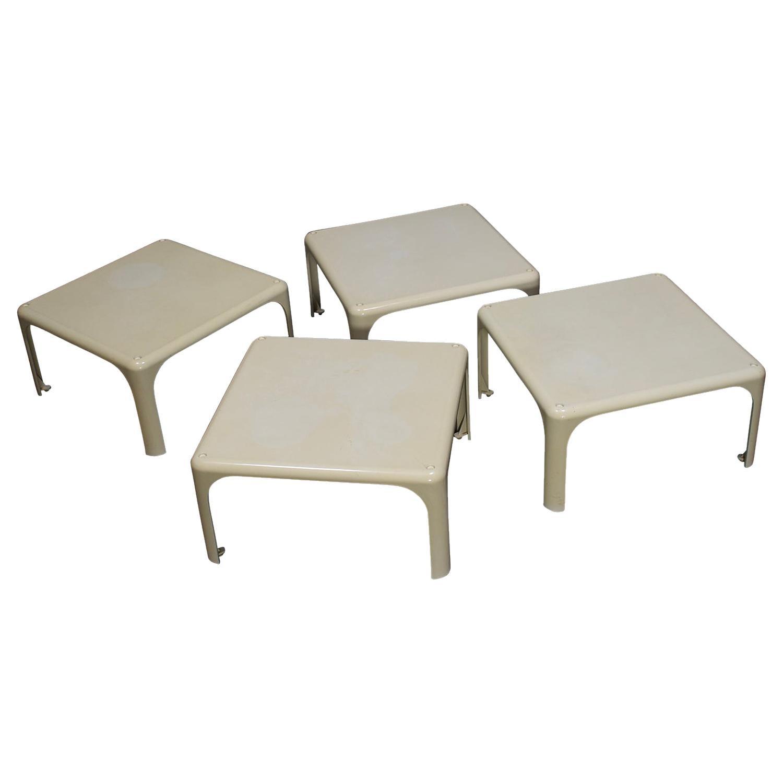 Vico Magistretti 'Demetrio' Stackable Side Tables for Artemide, Italy, 1964