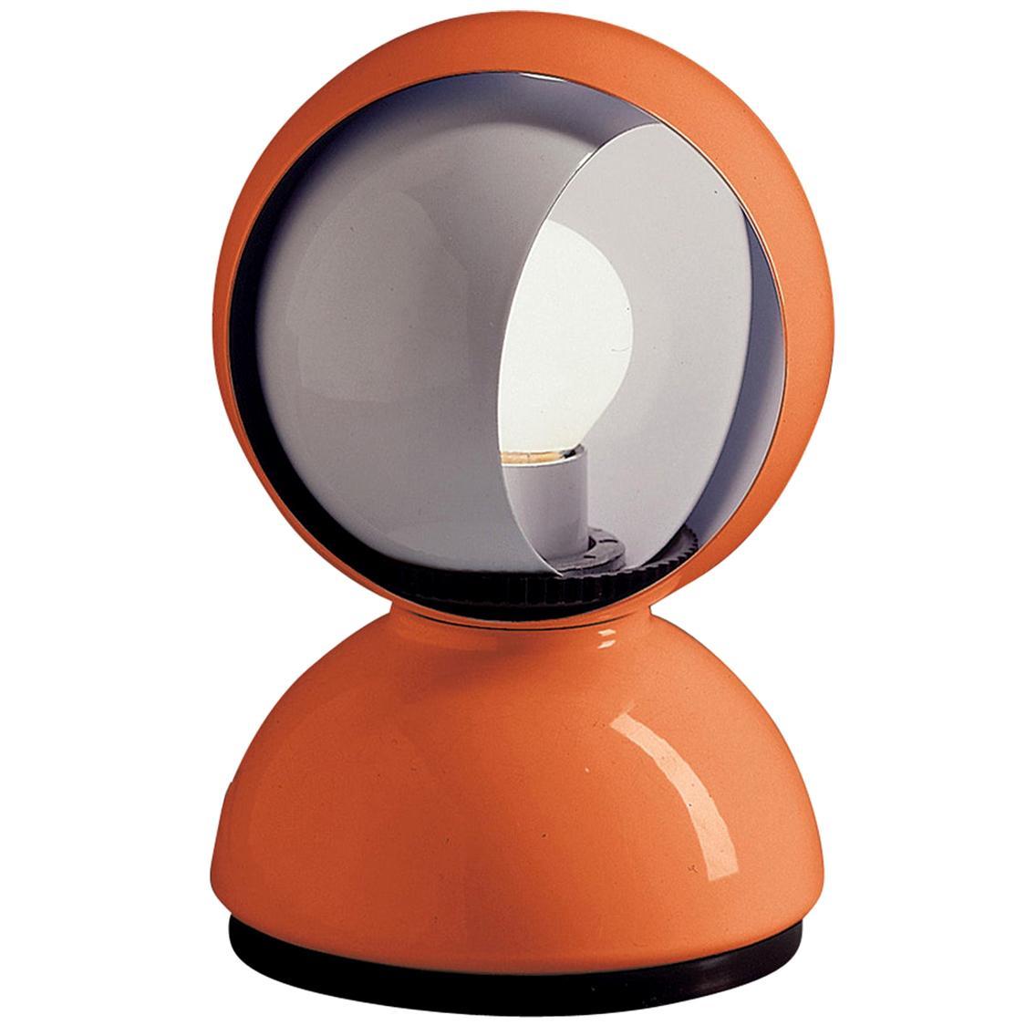 Vico Magistretti Eclisse Table Lamp in Orange for Artemide
