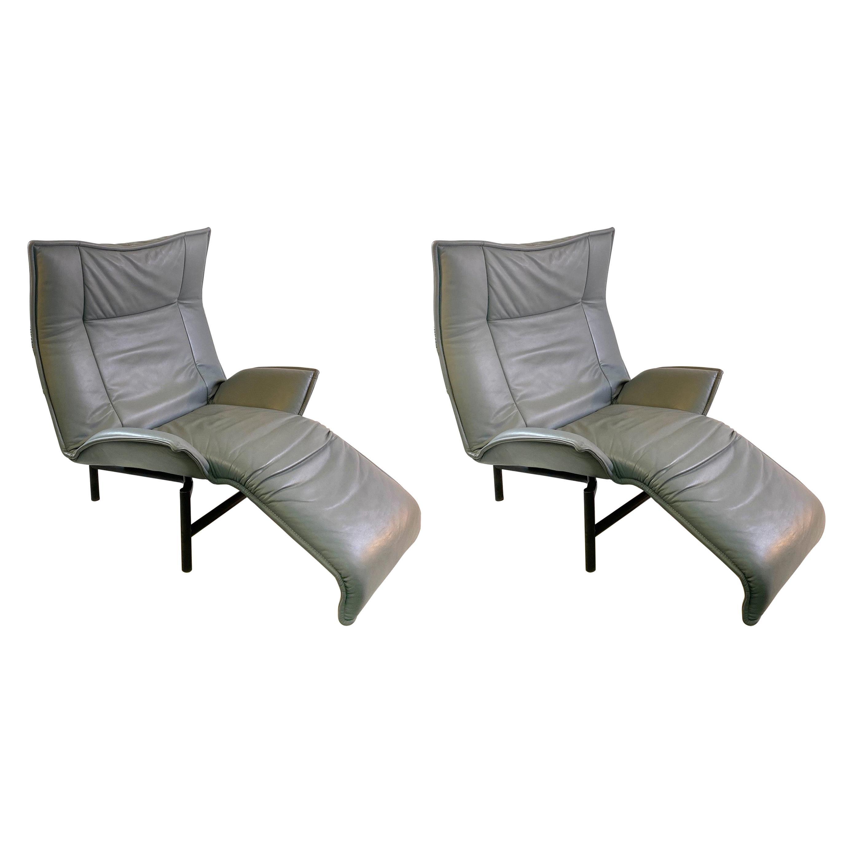 Vico Magistretti for Cassina Italia Modern Veranda Lounge Chairs