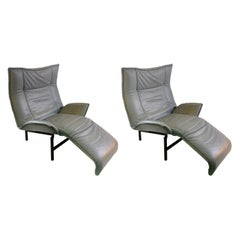 Vico Magistretti for Cassina Italia Modern Veranda Lounge Chairs